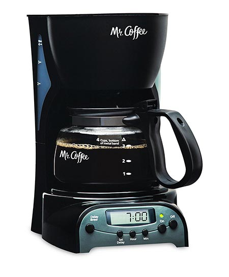 3. Mr. Coffee 4-Cup Programmable Coffeemaker DRX5