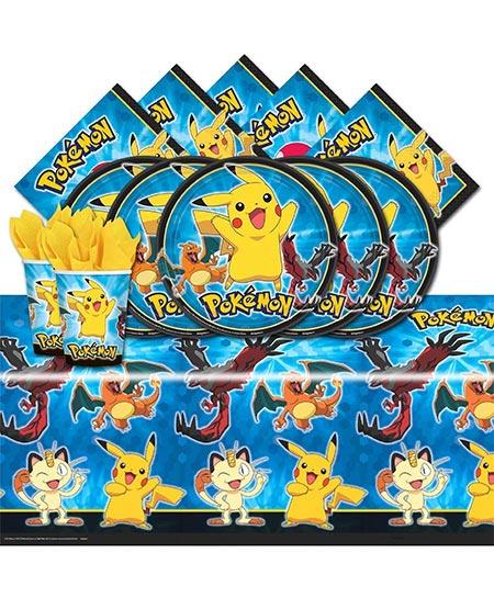 3. Pokemon Pikachu & Friends Birthday Party Tableware.