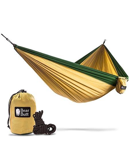 1. Double Parachute Camping Hammock