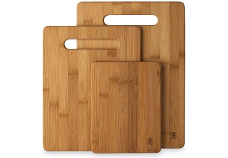 1. 3 Piece Bamboo Cutting Board Set