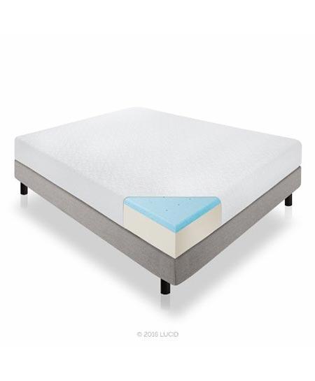 7. LUCID 10 Inch Gel Memory Foam Mattress