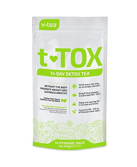 7. 14 Day Detox Tea Teatox by V Tea