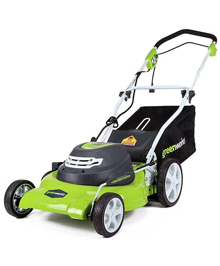 1. GreenWorks 20-Inch Lawn Mower