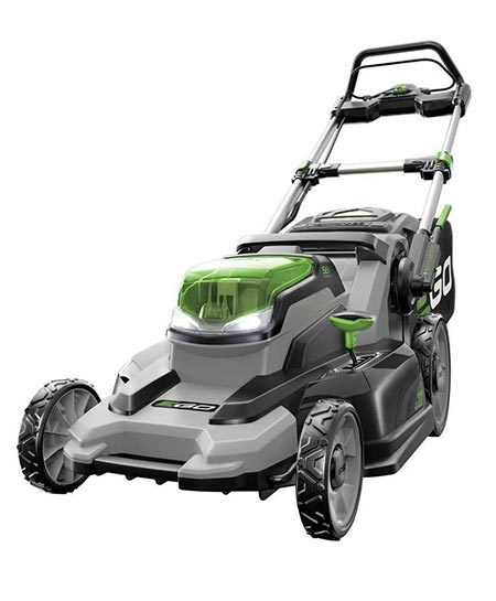 9. Lithium-ion Cordless Lawn Mower with Battery and Charger Kit
