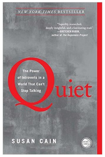 1. Quite: The power of Introvert in a world that can't stop talking – Susan Cain