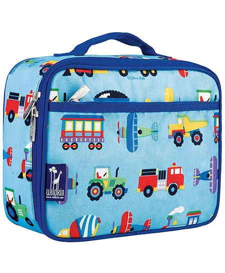 9. Olive Kids Trains, Planes & Trucks Lunch Box