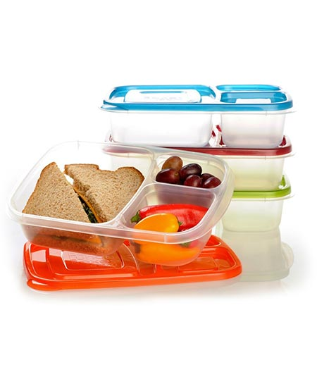 4. EasyLunchboxes Bento Lunch Box Containers