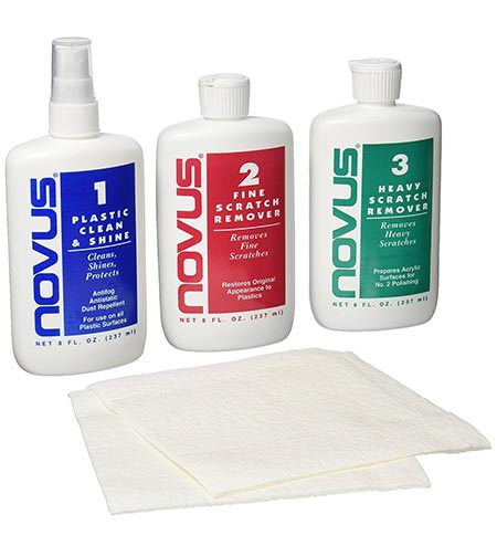 7. NOVUS 7100 Plastic Polish Kit - 8 oz.