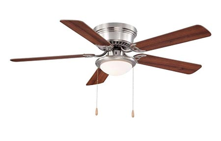 6. Hampton Bay Hugger Ceiling Fan