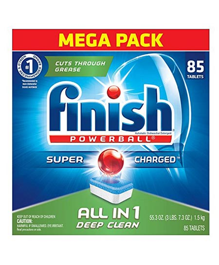 Finish All In Power Ball Fresh 85 Tabs Dishwasher Detergent Tablets.