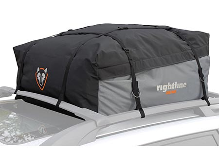 4 Rightline Gear 100S10 Sport 1 Car Top Carrier, 12 cu ft, Waterproof, Attaches With or Without Roof Rack
