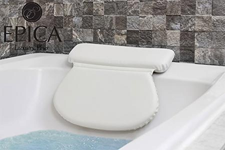 3 pica 2X-Thick Luxury Spa Bath Pillow, SuperGrip Suction Cups