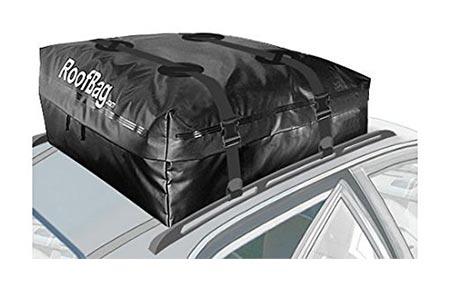 8 RoofBag 100% Waterproof Carrier - Made in USA - Works on ALL Vehicles: For Cars with Side Rails, Cross Bars or No Rack –Cross Country Soft Car Top Cargo Carrier