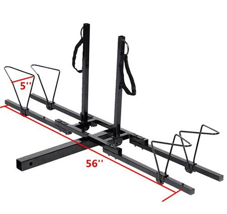 8. New Upright 2 Mountain Bike Rack Hitch Carrier 2