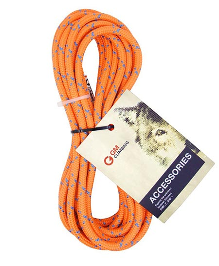 1 GM CLIMBING 8mm Accessory Cord Rope 19kN Double Braid Pre Cut CE / UIAA