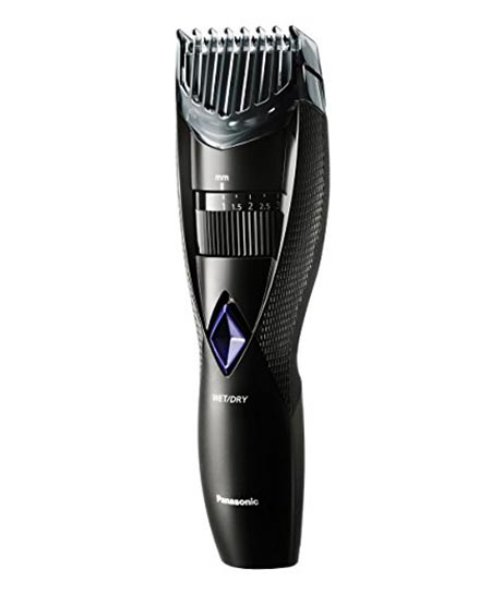 10 Panasonic Wet and Dry Cordless Electric Beard and Hair Trimmer for Men, Black,