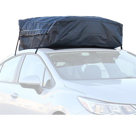 7 Car Roof Bag - 100% Waterproof Roof Top Cargo Bag No Rack Needed + Non-Slip Roof Mat & Storage bag, For Any Car Van or SUV (15 Cu