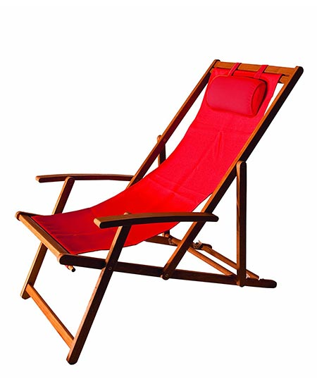 9 Arboria 880.1303 Foldable Outdoor Wood Sling Chair Eucalyptus Hardwood, Red