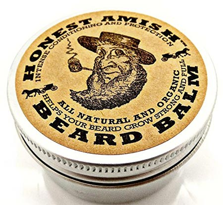 1 Honest Amish Beard Balm Leave-in Conditioner - All Natural -Vegan-Friendly Organic Oils