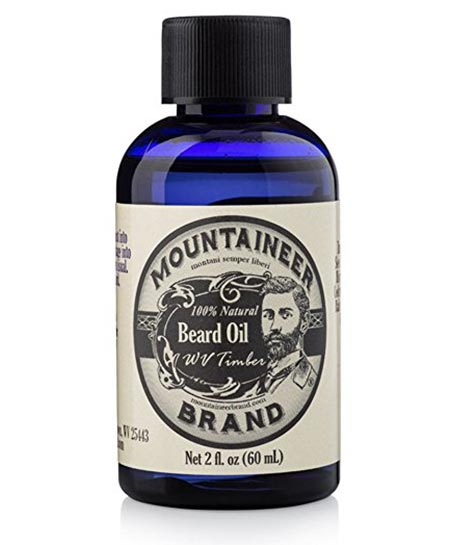 8 Beard Oil by Mountaineer Brand, WV Timber, Scented with Cedarwood and Fir Needle
