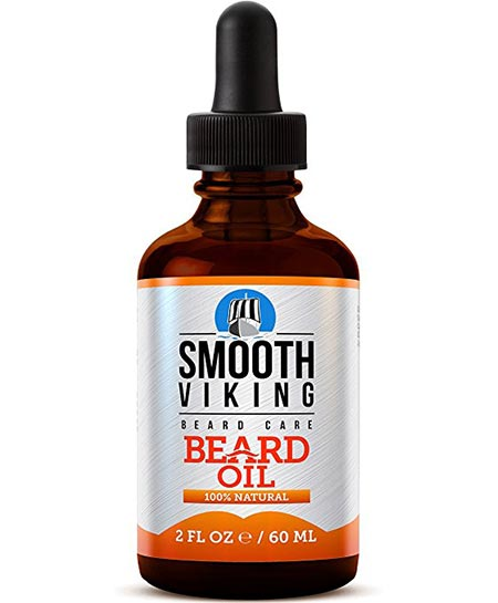 7 Smooth Viking Beard Oil for Men Use with Balm & Conditioner for the Best Facial