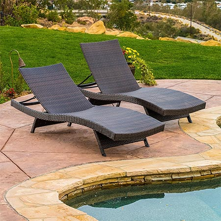 4 Lakeport Outdoor Adjustable Chaise Lounge