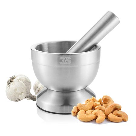 9 3S Stainless Steel Spice Grinder / Mortar and Pestle Set