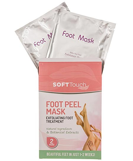 3 Soft Touch Foot Peel Mask, Exfoliating Callus Remover (2 Pairs per Box)