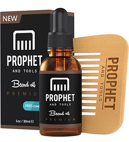 6 MUST HAVE Prophet and Tools Beard Oil and Beard Comb Kit! Unscented All-In-One Leave