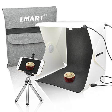 6 Emart 40 LED Foldable & Portable Photo Lighting Studio Shooting Tent Box Kit