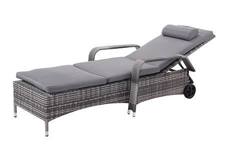 9 Tangkula Wicker Chaise Lounge