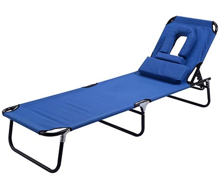 3 Goplus Patio Foldable Chaise Lounge