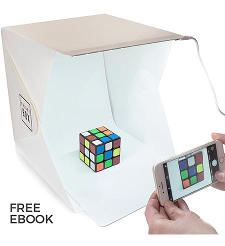 2 BrightBox Portable Mini Photo Studio With LED Light