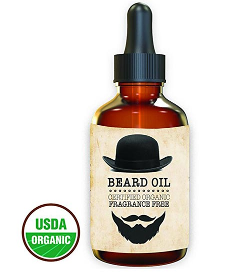 4 Premium - Beard Oil and Conditioner - 100% Organic, Pure and Natural Unscented