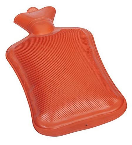6 DMI Hot Water Bottle, Rubber Hot Water Bottle, Red, 2 Quarts or 64 Ounces