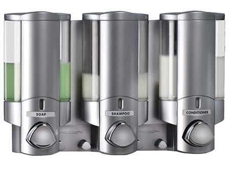 6 Better Living Products 76335 AVIVA Three Chamber Dispenser, Satin