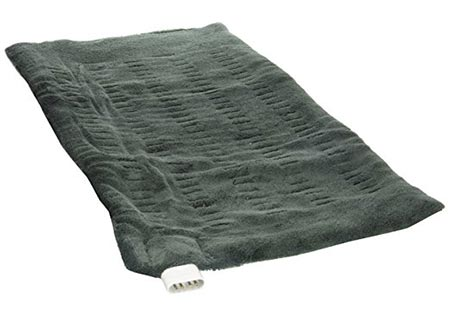 4 Sunbeam 002013-912-000 King Size XpressHeat Heating Pad, Green, 12 x 24-inches