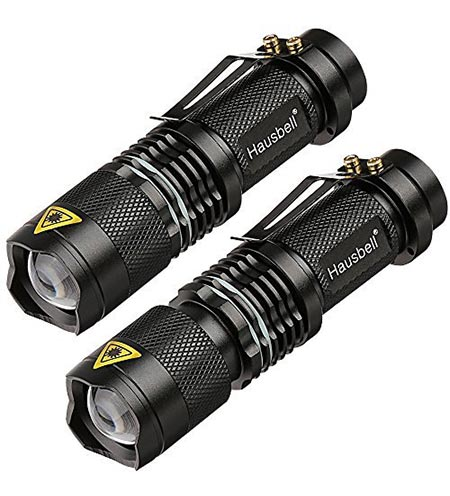 3 Hausbell 7W Ultra Bright Mini LED Flashlight Tactical Flashlight