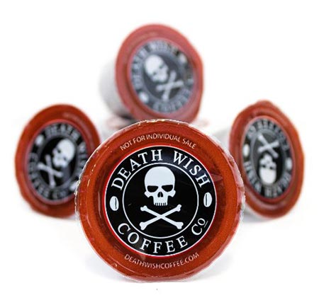 5 Death Wish Coffee Single Serve Capsules for Keurig K-Cup Brewers