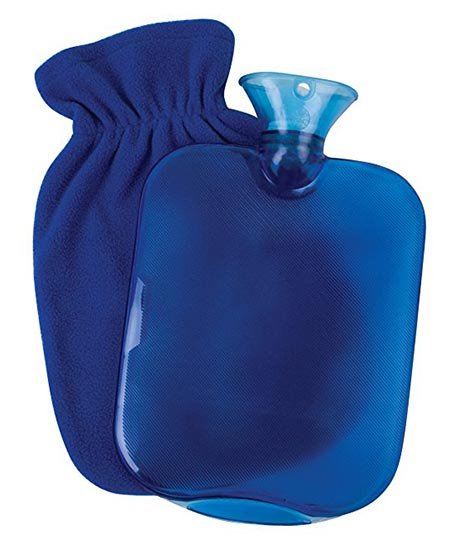 9 Carex Health Brands Carex Hot Water Bottle with Fleece Cover