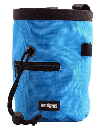 3 two Ogres Essential-Z Climbing Chalk Bag with Belt and Zippered Pocket