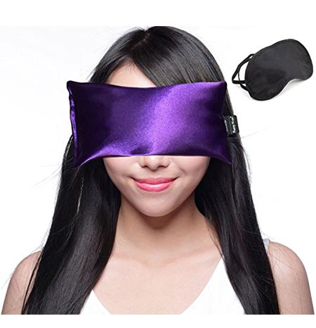 3 Happy Wraps Hot Cold Lavender Eye Pillow with Eye Mask for Sleep, Amethyst
