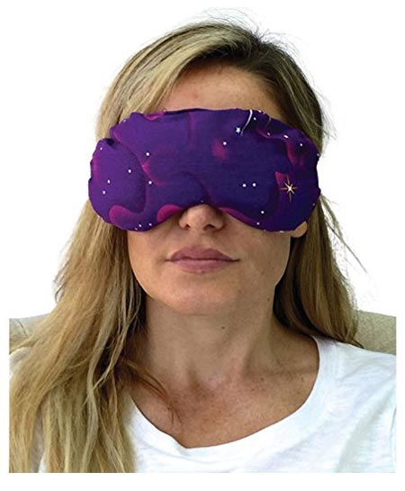 7 Eye Mask - Lavender Eye Pillow - Natural Relaxation - Stress Relief (Purple Stars)