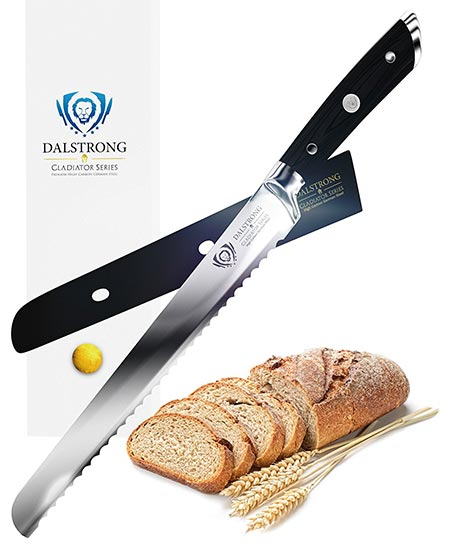 4 DALSTRONG Bread Knife - Gladiator Series - German HC Steel - 10