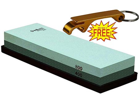 7 DeBell Double Side 400 Grit and 800-Grit Sharpening Stone