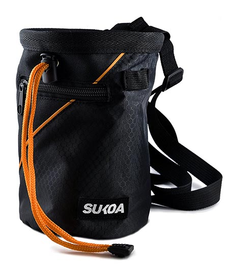 1 Sukoa Chalk Bag with Quick-Clip Belt and 2 Large Zippered Pockets