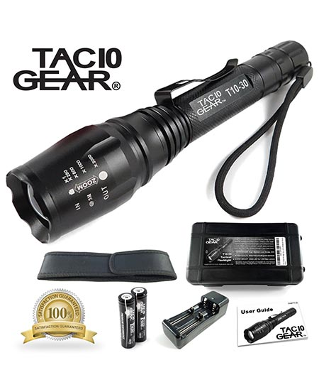 6 TAC10 GEAR CREE XML-T6 1,200 Lumens handheld LED flashlight