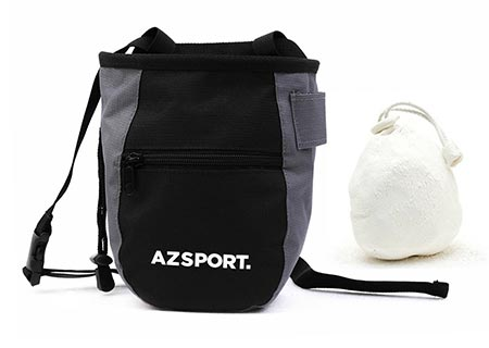 7 AZSPORT Chalk Bag, Durable Gym Chalk Holder for Rock Climbing