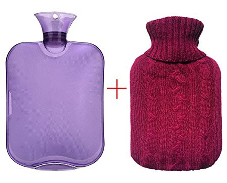4 Premium Classic Rubber Hot Water Bottle, Transparent Hot Water Bottle