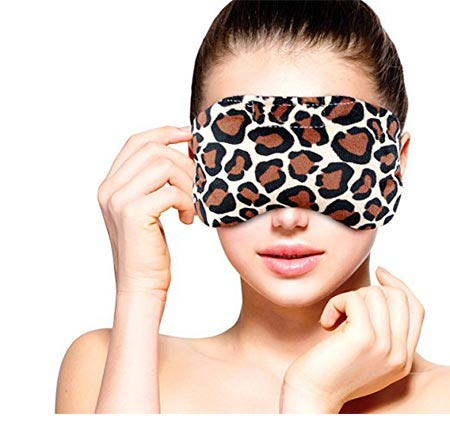 10 Heated Microwavable Eye Mask by FOMI Care | Lavender Scented, Reusable